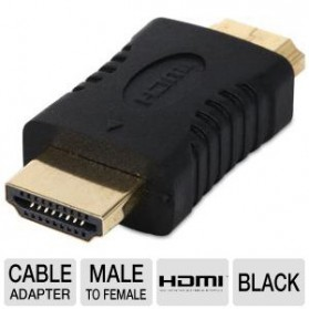 HDMI Male to Male Gender Changer - HDT007 - Black - 3