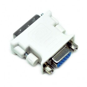 Adapter VGA Female ke DVI-I (Dual Link) Male - White