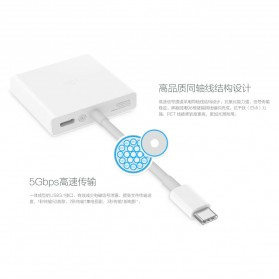 Xiaomi USB Type C to HDMI & USB Adapter Converter Cable - White - 6
