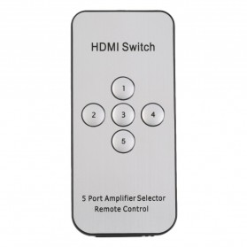 HDMI Switcher 5 Port 4K x 2K MHL 3D with Remote - Black - 4