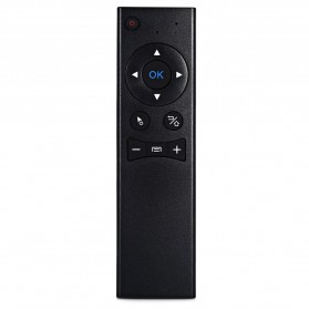 Remote Control Wireless Dengan Mic Untuk Smart TV - TZ MX6 - Black