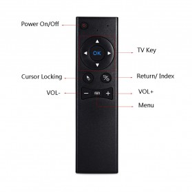 Remote Control Wireless Dengan Mic Untuk Smart TV - TZ MX6 - Black - 6