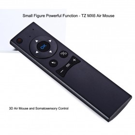 Remote Control Wireless Dengan Mic Untuk Smart TV - TZ MX6 - Black - 7