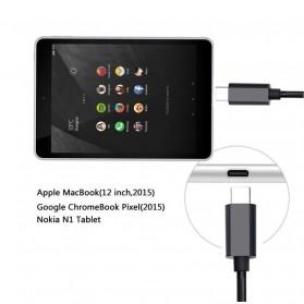 Kabel USB 3.1 Type C ke Display Port 4K 2 Meter - Black - 2