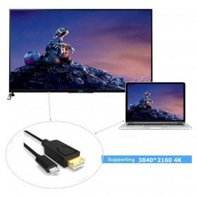 Kabel USB 3.1 Type C ke Display Port 4K 2 Meter - Black - 9