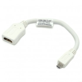 Bizlink Kabel Adapter Micro HDMI to HDMI 20CM - White