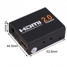 HDMI 2.0 Repeater Extender 4K 60Hz - 8076 - Black - 4