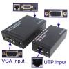 VGA UTP Extender 1X1 Splitter with Audio - Black