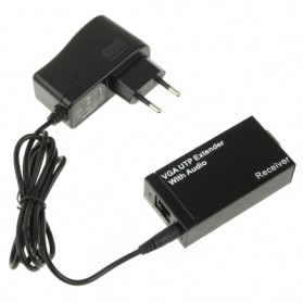 VGA UTP Extender 1X1 Splitter with Audio - Black - 3