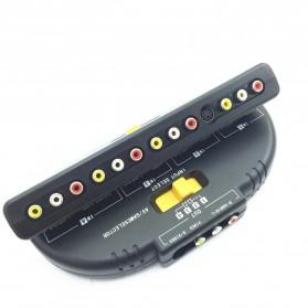 AV Switcher 4 Port In 1 Port Out Good Quality AV - Black