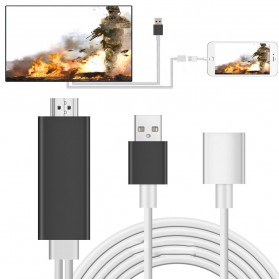 Kabel AV Adapter USB Male/Female Port to HDMI - Black
