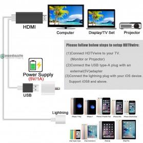 Kabel AV Adapter USB Male/Female Port to HDMI - Black - 3