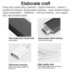 Kabel AV Adapter USB Male/Female Port to HDMI - Black - 8