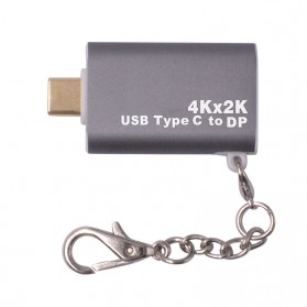 Adapter Converter USB Type C to Display Port 4K - Gray - 3