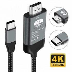 Centechia Kabel Konverter USB Type C to HDMI 4K 30Hz 2 Meter - TH-PLUS3 - Black