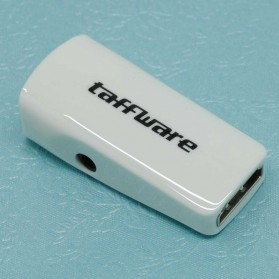 Taffware Full HD 1080P HDMI Female to VGA and Audio Adapter - E-129 - White
