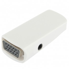 Taffware Full HD 1080P HDMI Female to VGA and Audio Adapter - E-129 - White - 5