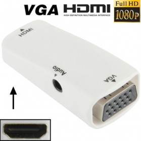 Taffware Full HD 1080P HDMI Female to VGA and Audio Adapter - E-129 - White - 7