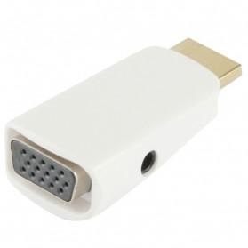 Taffware Adapter HDMI ke VGA & AUX 1080P - S-PC-0389 - White - 3