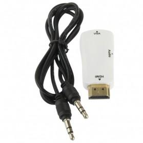 Taffware Adapter HDMI ke VGA & AUX 1080P - S-PC-0389 - White - 4