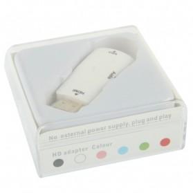 Taffware Adapter HDMI ke VGA & AUX 1080P - S-PC-0389 - White - 5