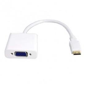 Mini HDMI to VGA Video Adapter - White