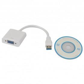 Adapter Display USB 3.0 ke VGA - CM162 - White - 3