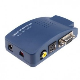 VGA to AV Video Converter - Blue