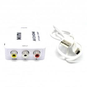 Konverter Video AV ke HDMI - HDV-M610 - White - 4