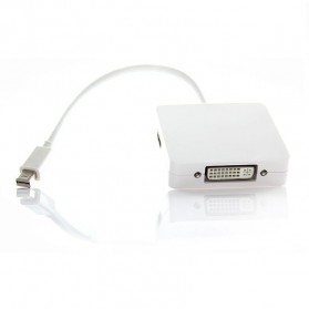 Mini DisplayPort to HDMI + DisplayPort + DVI Display Adapter - White - 2