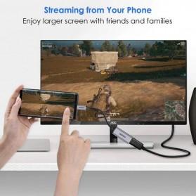 CHOETECH Kabel Adapter Converter USB Type C to HDMI 4K 20cm - HUB-H06 - Black - 2