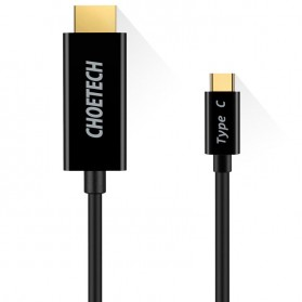 CHOETECH Kabel Adapter Konverter USB Type C to HDMI 4K 1.8 Meter - CH0018-V2 - Black - 2