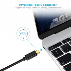 CHOETECH Kabel Adapter Converter USB Type C to DisplayPort 4K 1.2 Meter - XCP-0012 - Black - 3
