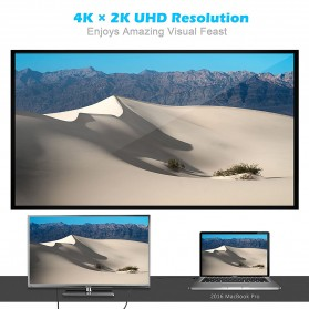 CHOETECH Kabel Adapter Converter USB Type C to DisplayPort 4K 1.2 Meter - XCP-0012 - Black - 6