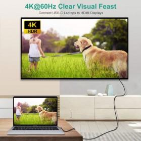 CHOETECH Kabel Adapter Konverter USB Type C to HDMI 4K L-Shape 1.8 Meter - XCH-1803 - Black - 4