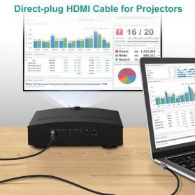 CHOETECH Kabel Adapter Konverter USB Type C to HDMI 4K L-Shape 1.8 Meter - XCH-1803 - Black - 7