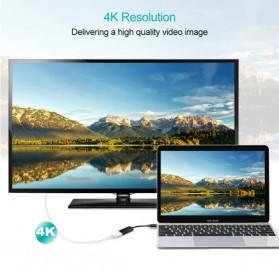 CHOETECH Kabel Adapter Converter USB Type C 3.1 to HDMI 4K - HUB-H04 - Black - 4