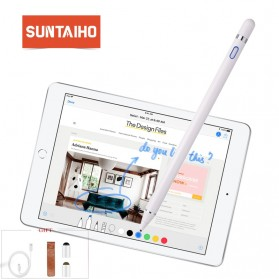 SUNTAIHO Stylus Capacitance Touch Apple Pencil for iPad iPhone - Pencil-01 - White - 3