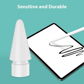 GOOJODOQ Ujung Nib Pensil Stylus Capacitive Touch Pen for Apple Pencil - GJD5G - White - 4