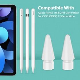 GOOJODOQ Ujung Nib Pensil Stylus Capacitive Touch Pen for Apple Pencil - GJD5G - White - 6