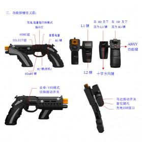 Ipega The Son of Phantom Shox Blaster Bluetooth Gun Gamepad for Smartphone - PG-9057 - Black - 7