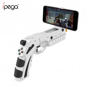 Wireless Gamepad / Joystick - Ipega AR Gaming Gun Bluetooth Gamepad for Smartphone - PG-9082 - White
