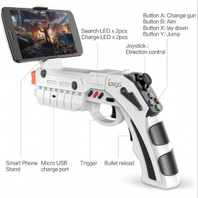 Ipega AR Gaming Gun Bluetooth Gamepad for Smartphone - PG-9082 - White - 3