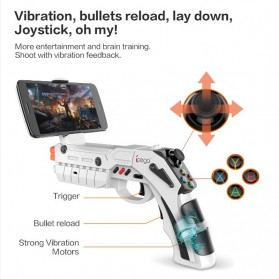 Ipega AR Gaming Gun Bluetooth Gamepad for Smartphone - PG-9082 - White - 4