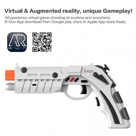 Ipega AR Gaming Gun Bluetooth Gamepad for Smartphone - PG-9082 - White - 7