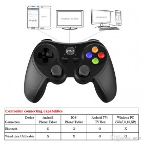Ipega Universal Bluetooth Game Controller for Smartphone - PG-9078 - Black - 2