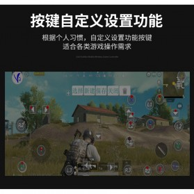 Ipega Gold Warrior Bluetooth Gamepad Controller PUBG ML for Smartphone - PG-9118 - Black - 8