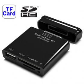 Card Reader + USB Connection Kit for Samsung Galaxy Tab Galaxy Tab 8.9 / P7300 / Galaxy Tab 10.1 / P7500/ P7510 - Black