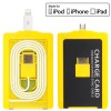 Charge Card Micro USB 5 Pin with Lightning 8 Pin Adapter - Yellow