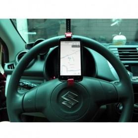 Holder Smartphone Setir Mobil - Black - 5